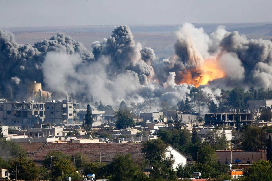 Bombardements à Raqqa
