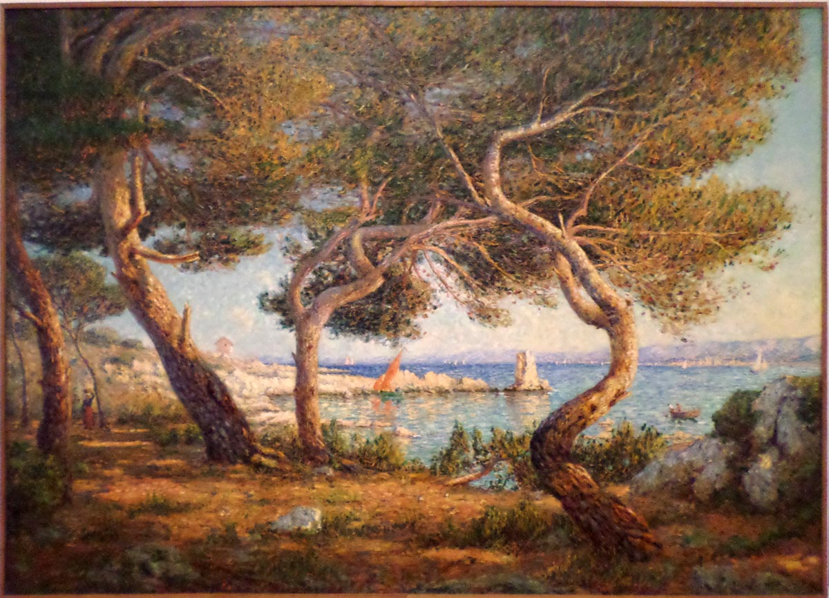 Les Pins, effet de soleil à Saint-Honorat (1906)