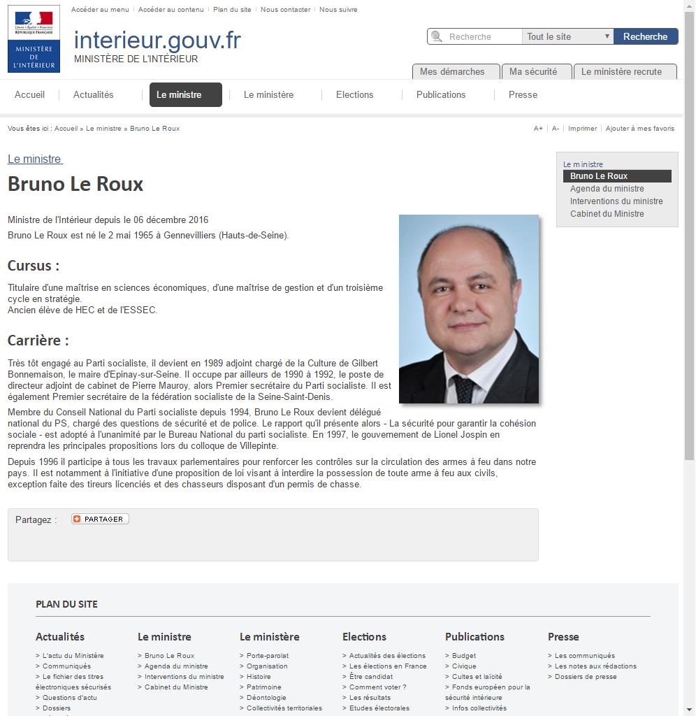 CV de Bruno Le Roux