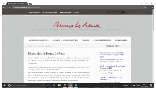 Biographie de Bruno Le Roux