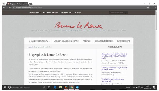 Biographie de Bruno Le Roux
