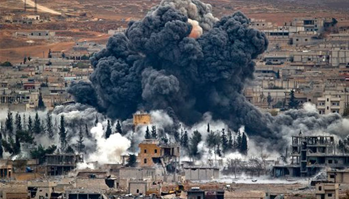 Bombardement à Mossoul